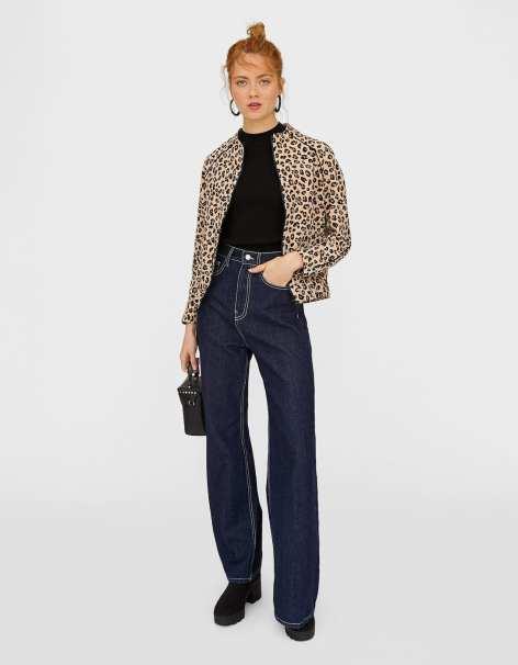 chaqueta leopardo stradivarius 25,99