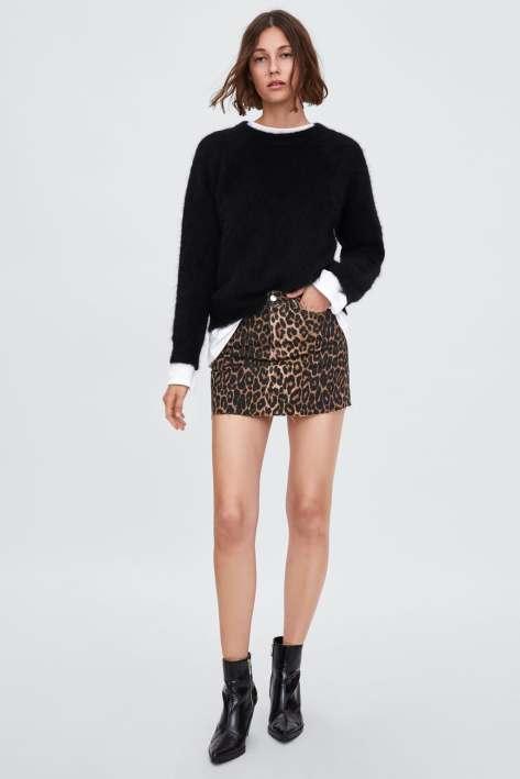 falda leopardo zara 22,95