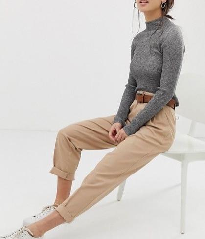 pantalon chino camel asos