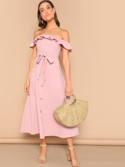 vestido pastel SHEIN