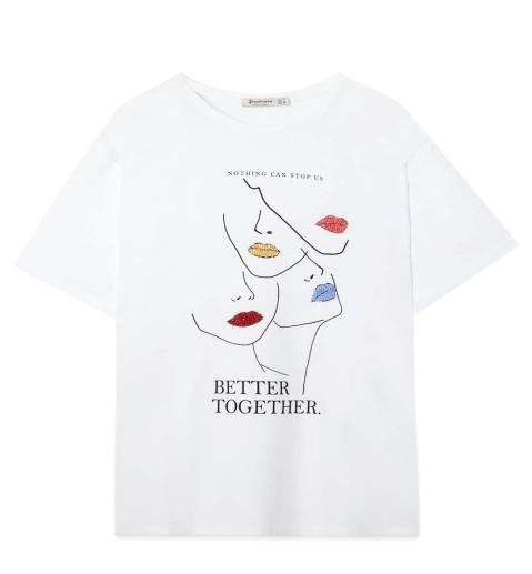 camiseta Stradivarius Dia de la mujer